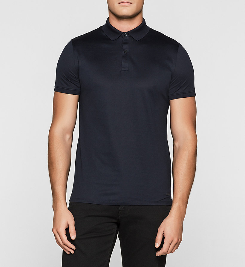 CALVINKLEIN Fitted Polo - TRUE NAVY - CALVIN KLEIN POLO SHIRTS - main image