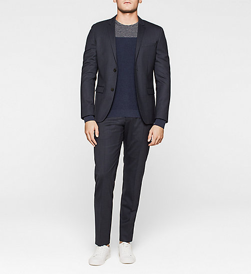 Colourblock trui - TRUE NAVY - CALVIN KLEIN TRUIEN - detail image 1