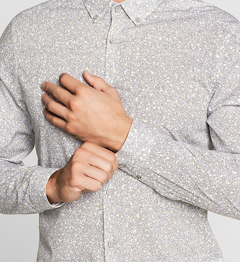 CALVINKLEIN Fitted Printed Shirt - DARK OLIVE - CALVIN KLEIN CLOTHES - detail image 2