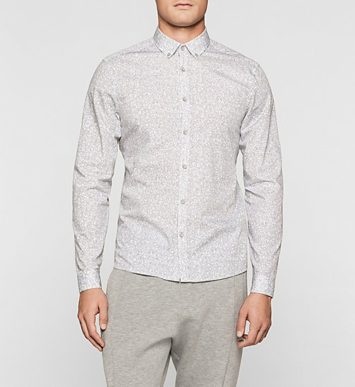 Fitted Printed Shirt - DARK OLIVE - CALVIN KLEIN  - main image