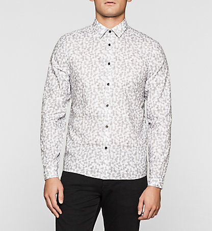 CALVIN KLEIN Fitted Cellular Print Shirt K10K100963077