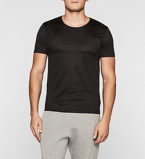 Mercerised Cotton T-shirt - PERFECT BLACK - CALVIN KLEIN  - main image