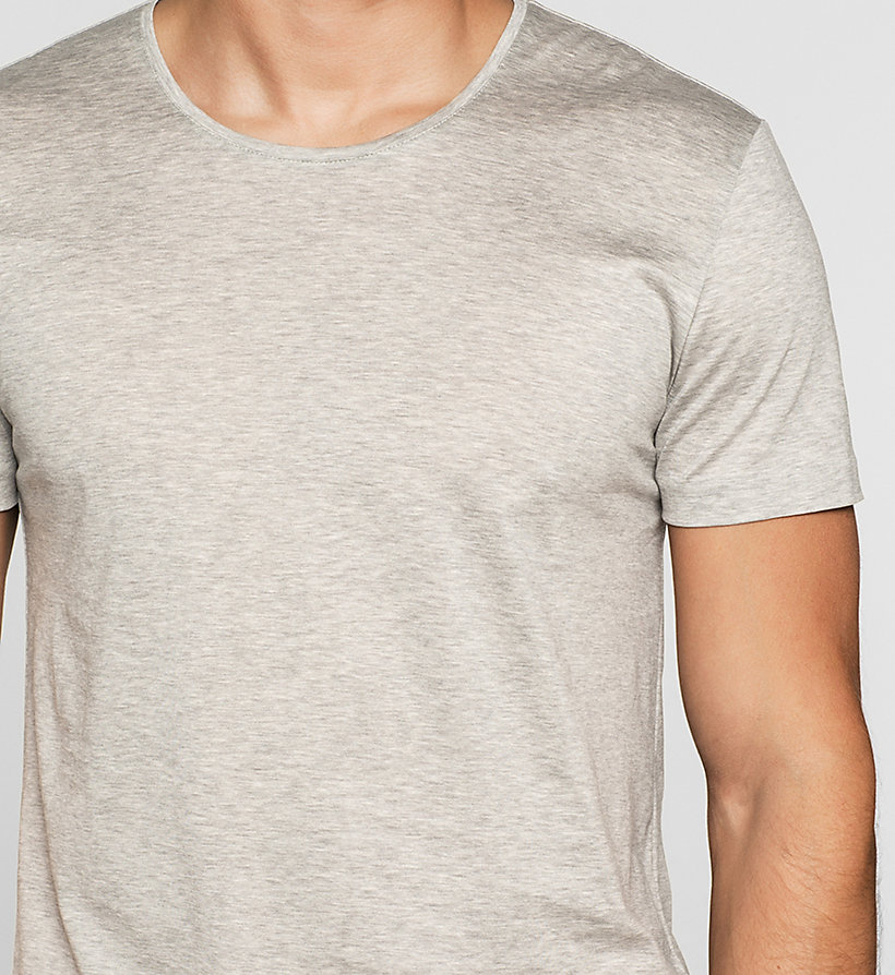 CALVINKLEIN Fitted T-shirt - MEDIUM GREY - CALVIN KLEIN T-SHIRTS - detail image 2