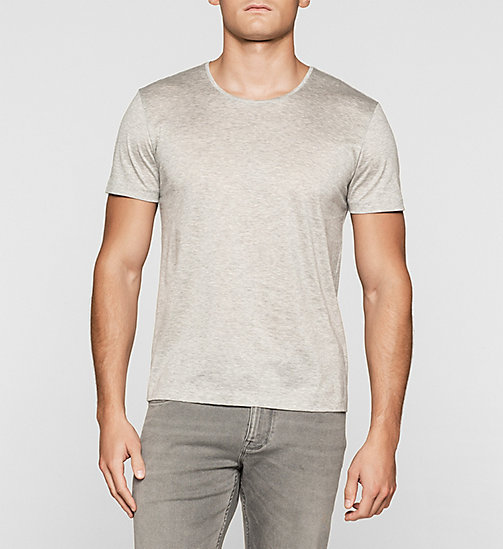 Mercerised Cotton T-shirt - MEDIUM GREY - CALVIN KLEIN  - main image