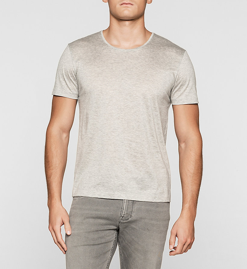 CALVINKLEIN Fitted T-shirt - MEDIUM GREY - CALVIN KLEIN T-SHIRTS - main image