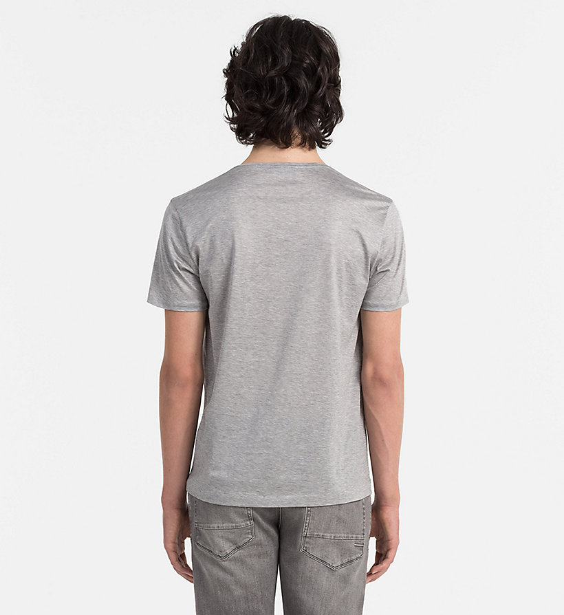 CALVINKLEIN Mercerised Cotton T-shirt - MEDIUM GREY HEATHER - CALVIN KLEIN CLOTHES - detail image 2