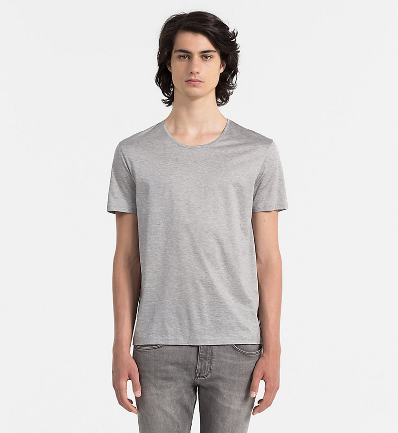 CALVINKLEIN Mercerised Cotton T-shirt - MEDIUM GREY HEATHER - CALVIN KLEIN CLOTHES - main image