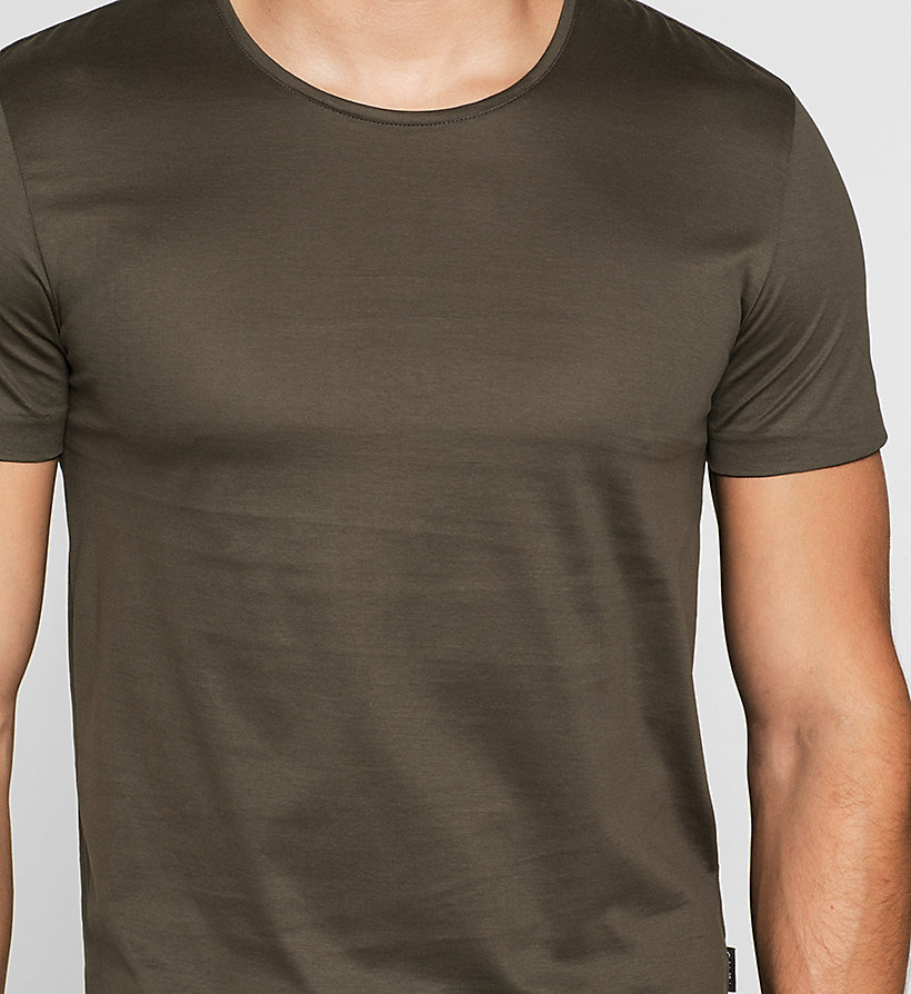 CALVINKLEIN Mercerised Cotton T-shirt - BLACK OLIVE - CALVIN KLEIN CLOTHES - detail image 2