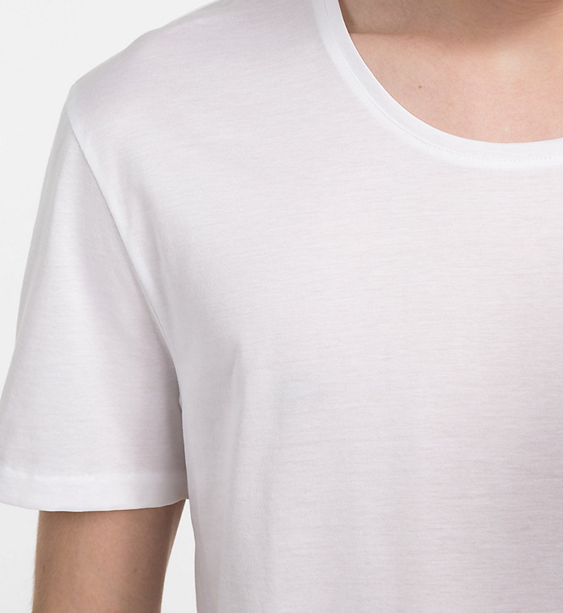 CALVINKLEIN Fitted T-shirt - PERFECT WHITE - CALVIN KLEIN T-SHIRTS - detail image 2