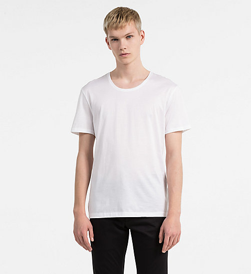 Mercerised Cotton T-shirt - PERFECT WHITE - CALVIN KLEIN  - main image