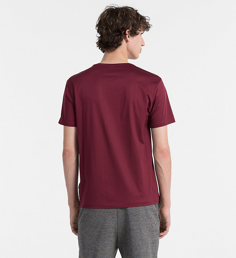 CALVINKLEIN Mercerised Cotton T-shirt - ZINFANDEL - CALVIN KLEIN CLOTHES - detail image 2
