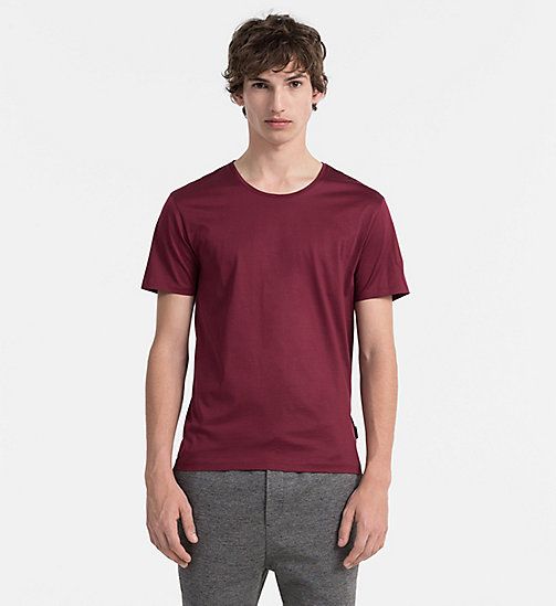 Mercerised Cotton T-shirt - ZINFANDEL - CALVIN KLEIN  - main image
