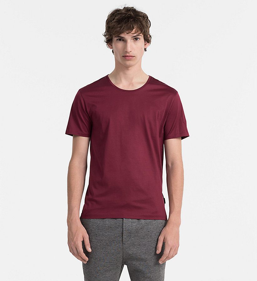 CALVINKLEIN Mercerised Cotton T-shirt - ZINFANDEL - CALVIN KLEIN CLOTHES - main image