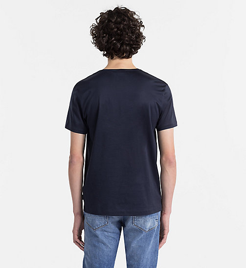 Mercerised Cotton T-shirt - SKY CAPTAIN - CALVIN KLEIN  - detail image 1