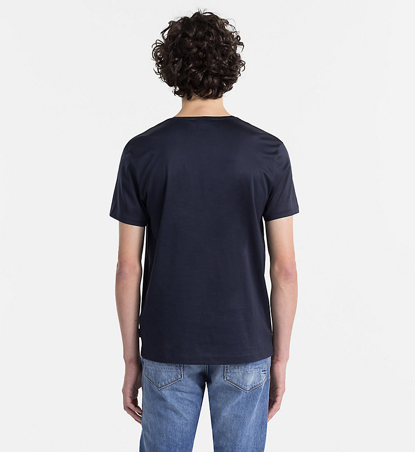 CALVINKLEIN Mercerised Cotton T-shirt - SKY CAPTAIN - CALVIN KLEIN CLOTHES - detail image 1