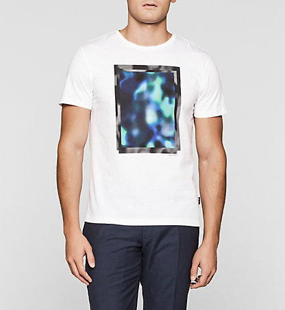 CALVIN KLEIN Fitted Printed T-shirt K10K100983105