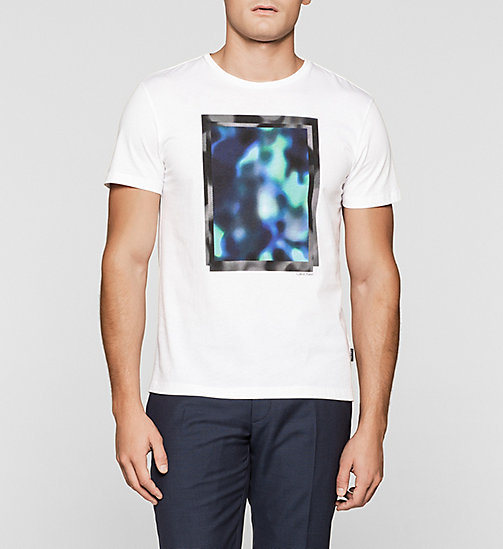 Fitted Printed T-shirt - PERFECT WHITE - CALVIN KLEIN  - main image