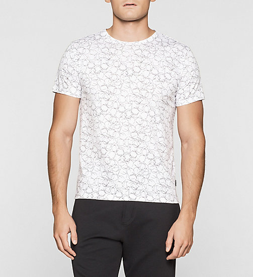 CKJEANS Fitted Logo T-shirt - PERFECT WHITE - CALVIN KLEIN T-SHIRTS - main image