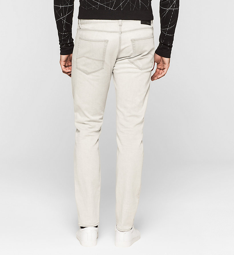 CALVINKLEIN Slim Straight Jeans - BLEACHED GREY - CALVIN KLEIN CLOTHES - detail image 1