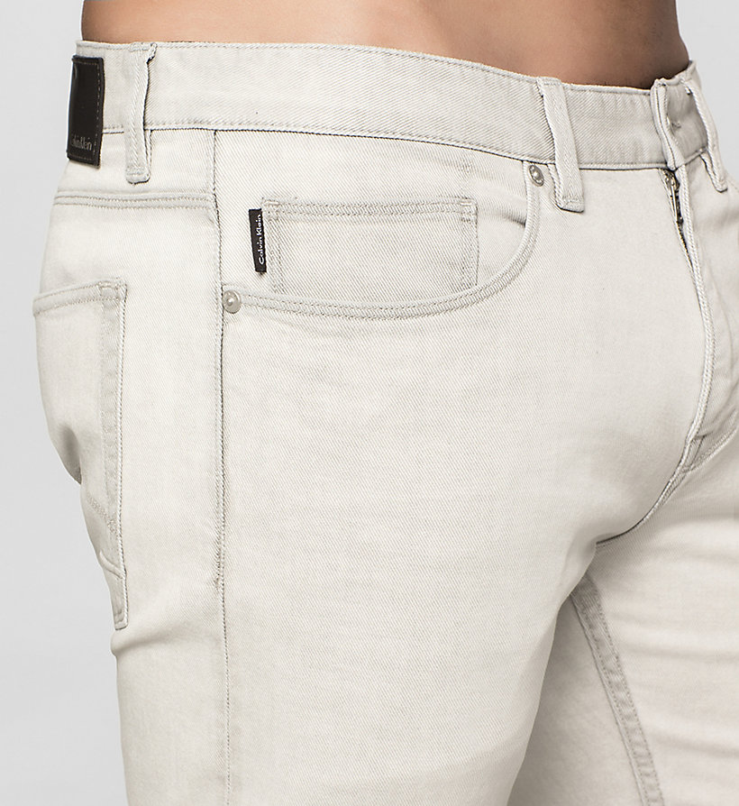 CALVINKLEIN Slim Straight Jeans - BLEACHED GREY - CALVIN KLEIN CLOTHES - detail image 2