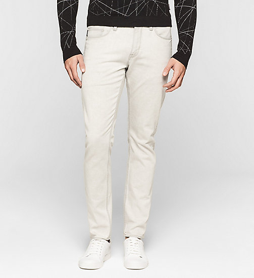 Slim Straight Jeans - BLEACHED GREY - CALVIN KLEIN JEANS - main image