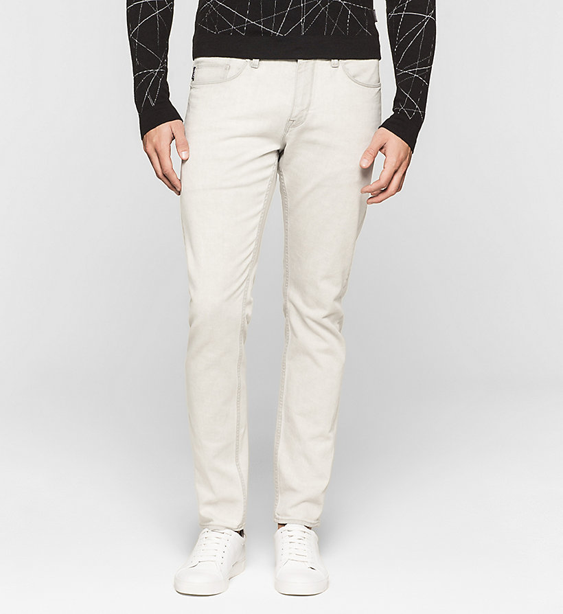 CALVINKLEIN Slim Straight Jeans - BLEACHED GREY - CALVIN KLEIN CLOTHES - main image
