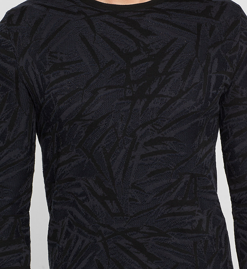 CALVINKLEIN Jacquard Knit Sweater - PERFECT BLACK - CALVIN KLEIN JUMPERS - detail image 2