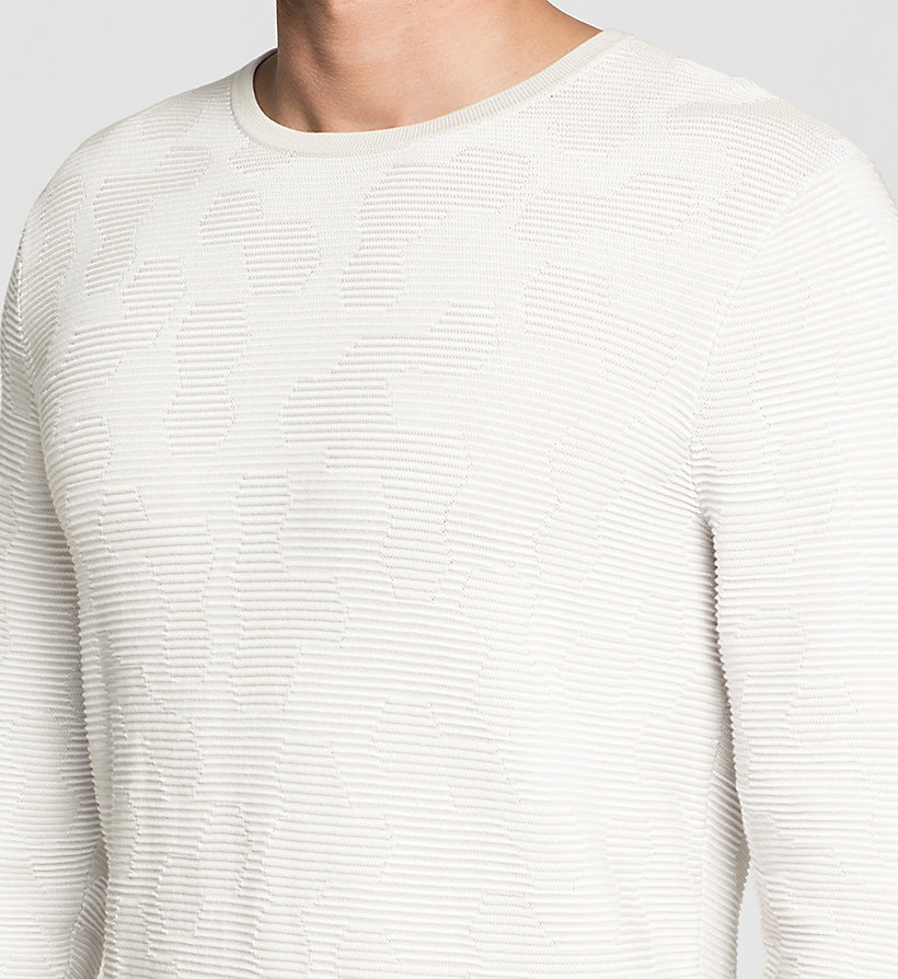 CALVINKLEIN Jacquard Knit Sweater - LIGHT ZINC - CALVIN KLEIN CLOTHES - detail image 2