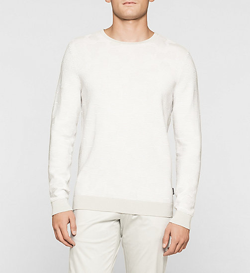 Jacquard Knit Sweater - LIGHT ZINC - CALVIN KLEIN JUMPERS - main image