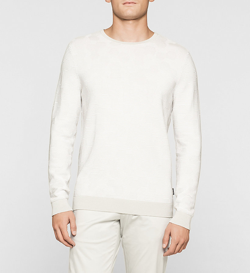 CALVINKLEIN Jacquard Knit Sweater - LIGHT ZINC - CALVIN KLEIN CLOTHES - main image