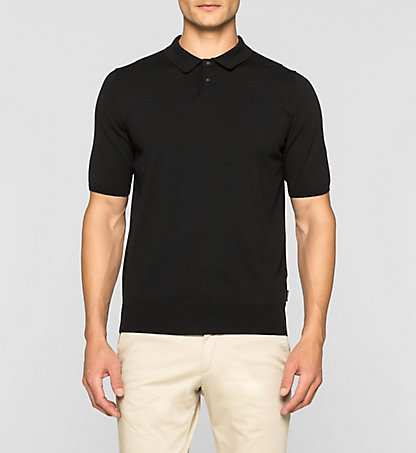 CALVIN KLEIN Luxury Cotton Knit Polo Shirt K10K101028013