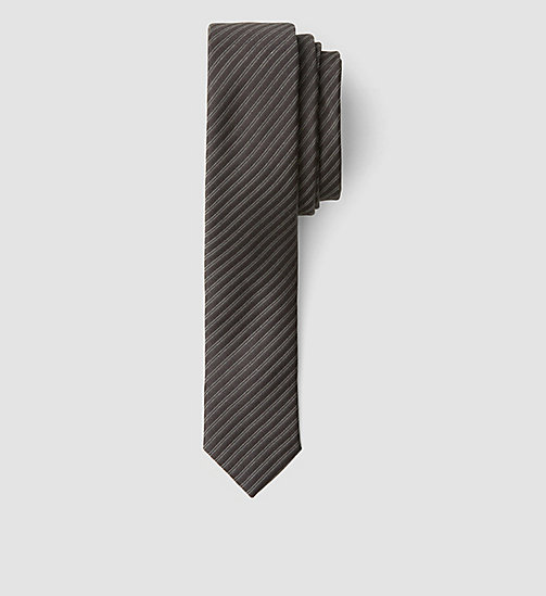 CALVINKLEIN Extra Slim Silk Tie - PERFECT BLACK - CALVIN KLEIN TIES - main image