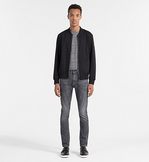 CALVINKLEIN Tailliertes meliertes T-Shirt - DARK GREY HEATHER - CALVIN KLEIN WORK TO WEEKEND - main image 1