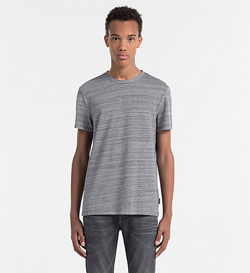 CALVINKLEIN Tailliertes meliertes T-Shirt - DARK GREY HEATHER - CALVIN KLEIN WORK TO WEEKEND - main image