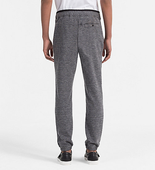 CALVINKLEIN Slim Heather Jersey Trousers - MID GREY - CALVIN KLEIN WORK TO WEEKEND - detail image 1
