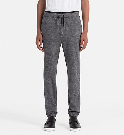 CALVINKLEIN Slim Heather Jersey Trousers - MID GREY - CALVIN KLEIN WORK TO WEEKEND - main image