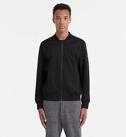 CALVINKLEIN Twill Bomber Jacket - PERFECT BLACK - CALVIN KLEIN WORK TO WEEKEND - main image