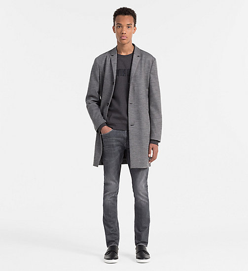 CALVINKLEIN Wool Viscose Coat - MID GREY - CALVIN KLEIN WORK TO WEEKEND - detail image 1