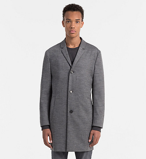 CALVINKLEIN Wool Viscose Coat - MID GREY - CALVIN KLEIN WORK TO WEEKEND - main image