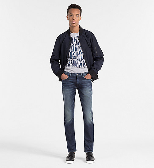 CALVINKLEIN Lightweight Bomber Jacket - TRUE NAVY - CALVIN KLEIN WORK TO WEEKEND - detail image 1