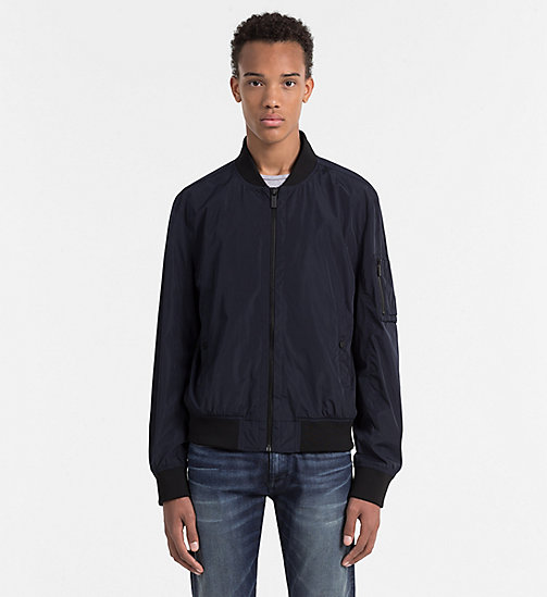 CALVINKLEIN Lightweight Bomber Jacket - TRUE NAVY - CALVIN KLEIN WORK TO WEEKEND - main image