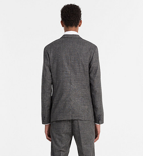 Fitted Wool Linen Blazer - IRON - CALVIN KLEIN  - detail image 1