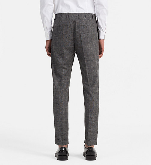 Fitted Wool Linen Trousers - IRON - CALVIN KLEIN  - detail image 1
