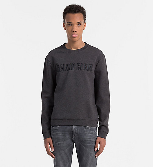 CALVINKLEIN Sweatshirt met logo - DARK GREY HEATHER - CALVIN KLEIN WORK TO WEEKEND - main image