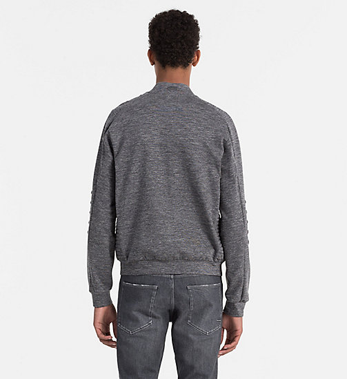 CALVINKLEIN Heathered Knit Jacket - MID GREY - CALVIN KLEIN WORK TO WEEKEND - detail image 1