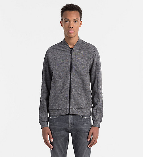 CALVINKLEIN Melierte Strickjacke - MID GREY - CALVIN KLEIN WORK TO WEEKEND - main image