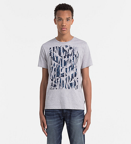 CALVINKLEIN Fitted T-shirt met logo - MEDIUM GREY HEATHER - CALVIN KLEIN WORK TO WEEKEND - main image