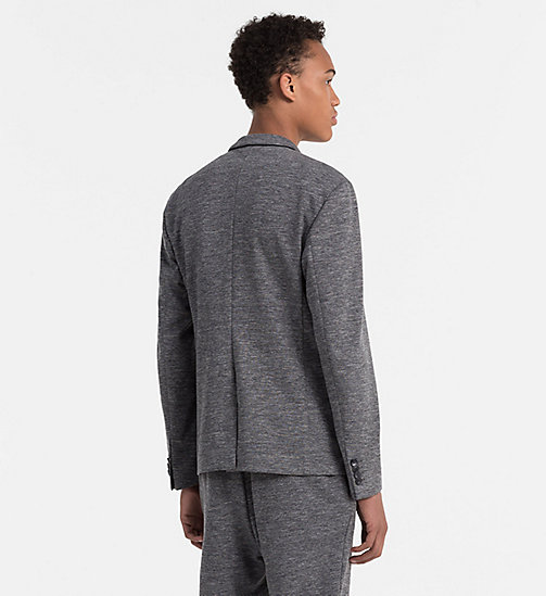 Fitted Viscose Stretch Blazer - MID GREY - CALVIN KLEIN CLOTHES - detail image 1
