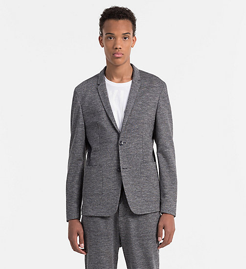 Fitted Viscose Stretch Blazer - MID GREY - CALVIN KLEIN CLOTHES - main image