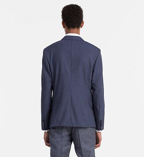 CALVINKLEIN Fitted Virgin Wool Blazer - LIMOGES - CALVIN KLEIN WORK TO WEEKEND - detail image 1